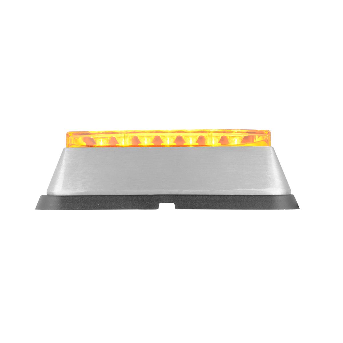 81821 Amber/Clear Medium Rectangular 14 LED Strobe Light