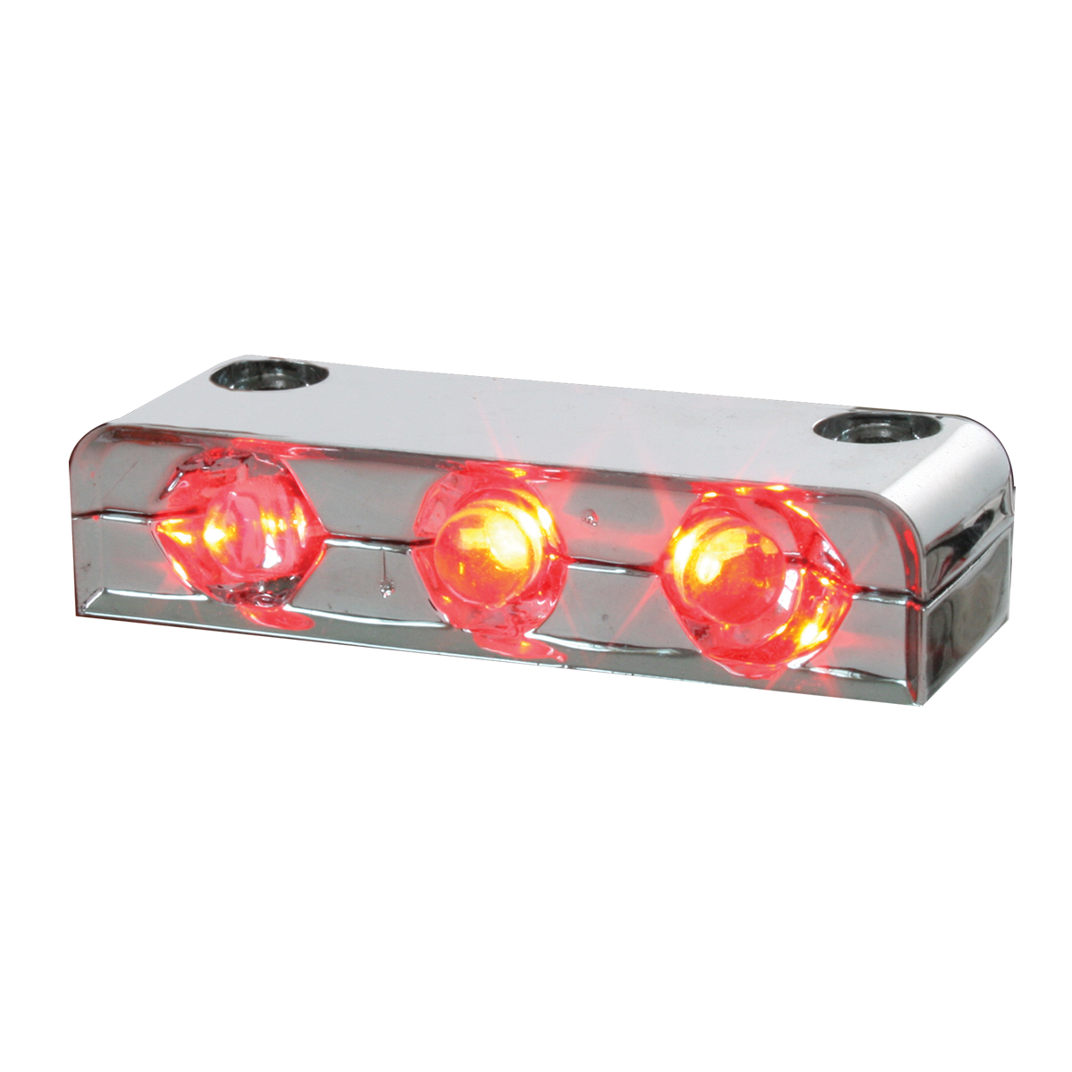 87403 Red 3 LED Step Light w/ Chrome Housing