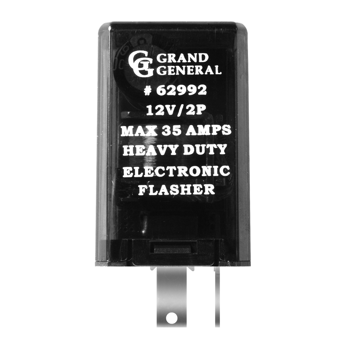 62992 Rectangular LED Flasher w/ 2 Pins & Max 35 AMPS