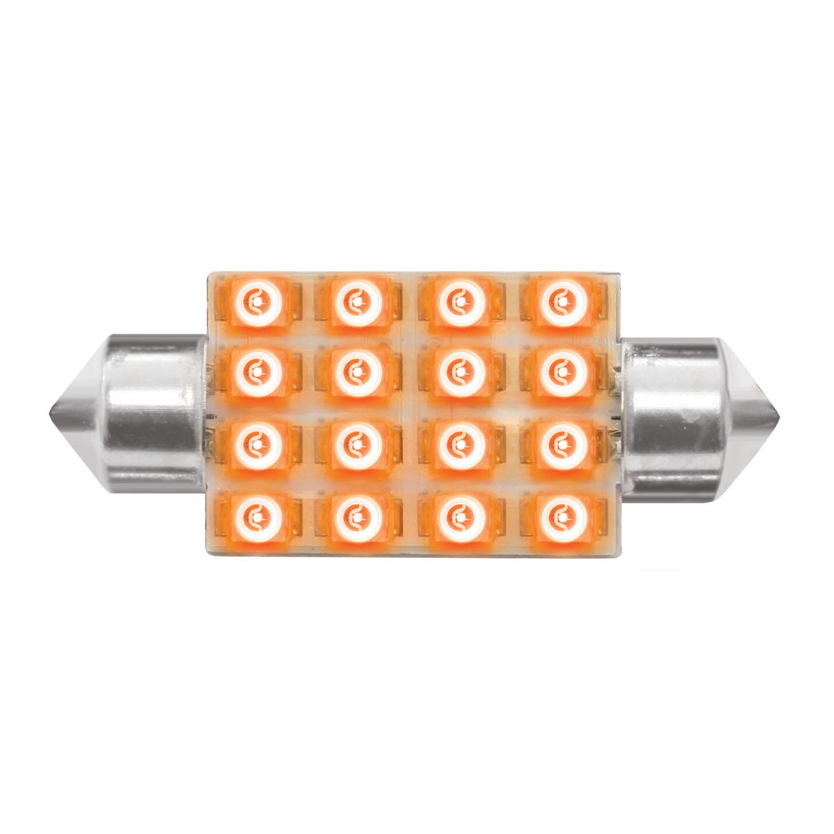 76100 Amber 211-2 Dome Type 16 LED Light Bulb