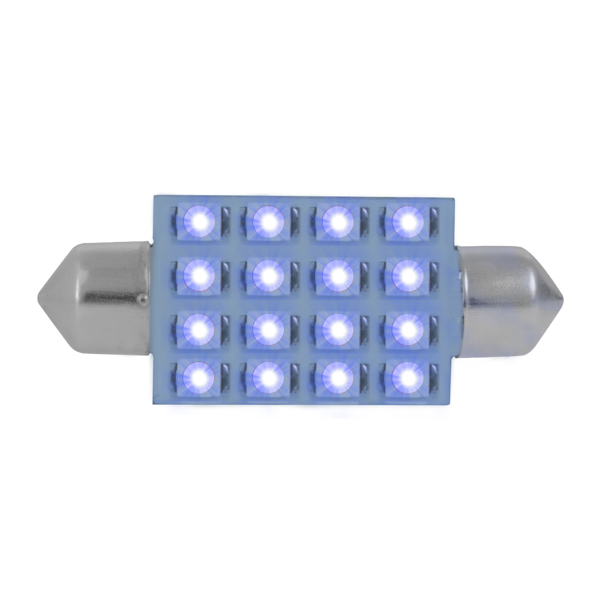 76101 Blue 211-2 Dome Type 16 LED Light Bulb