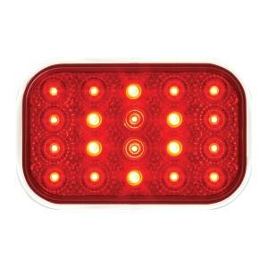 #77013 Rectangular Spyder LED Flat Red/Red Light