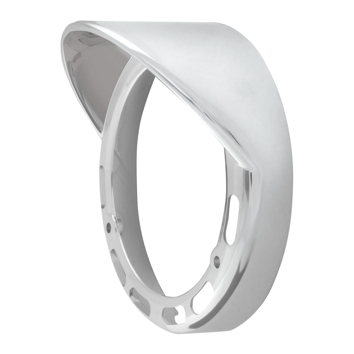 """78368 Chrome Plastic Bezel w/ Visor for 4"""" Pearl LED Pedestal Lights"""