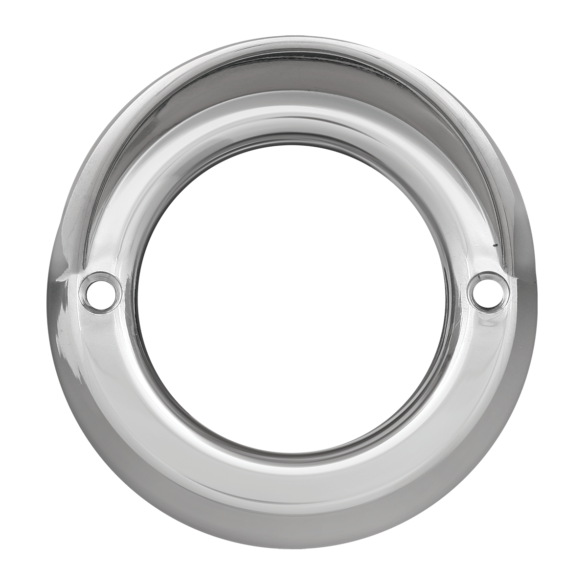 "80716 Chrome Plastic Grommet Cover w/ Visor for 2.5"" Round Light"
