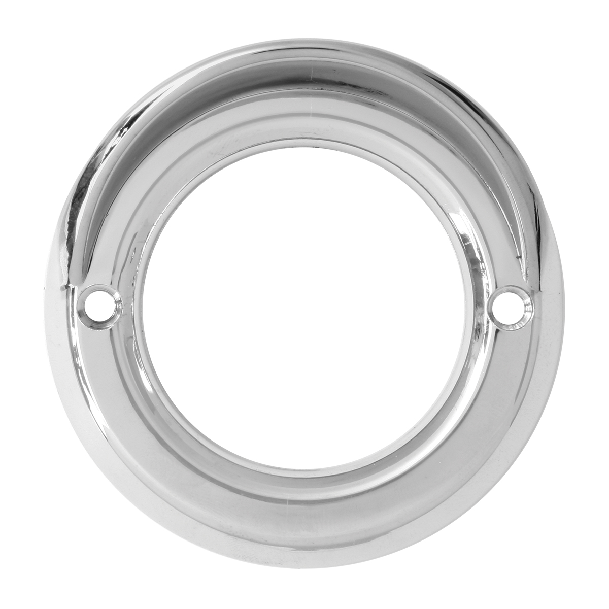 "80726 Chrome Plastic Grommet Cover w/ Visor for 2"" Round Light"