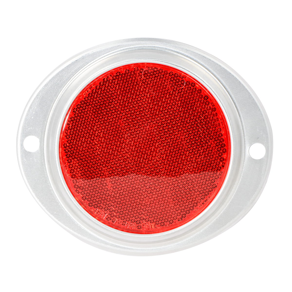 "80816 Red 3"" Round Reflector w/ Aluminum 2 Hole Screw Mount Base"