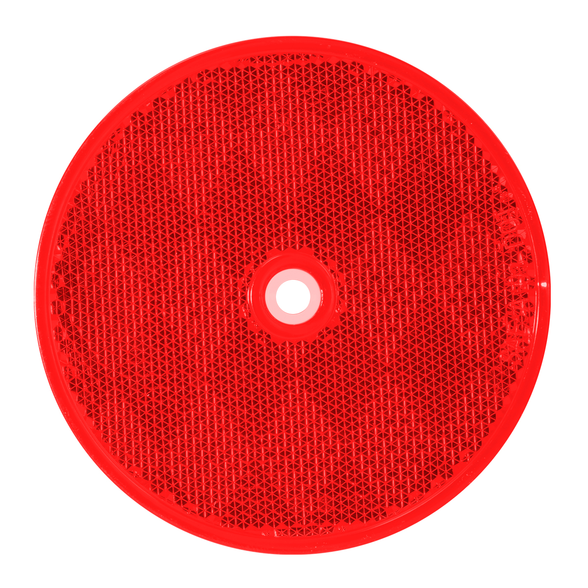 "80824 Red 3-1/4"" Round Reflector w/ Center Mounting Hole"