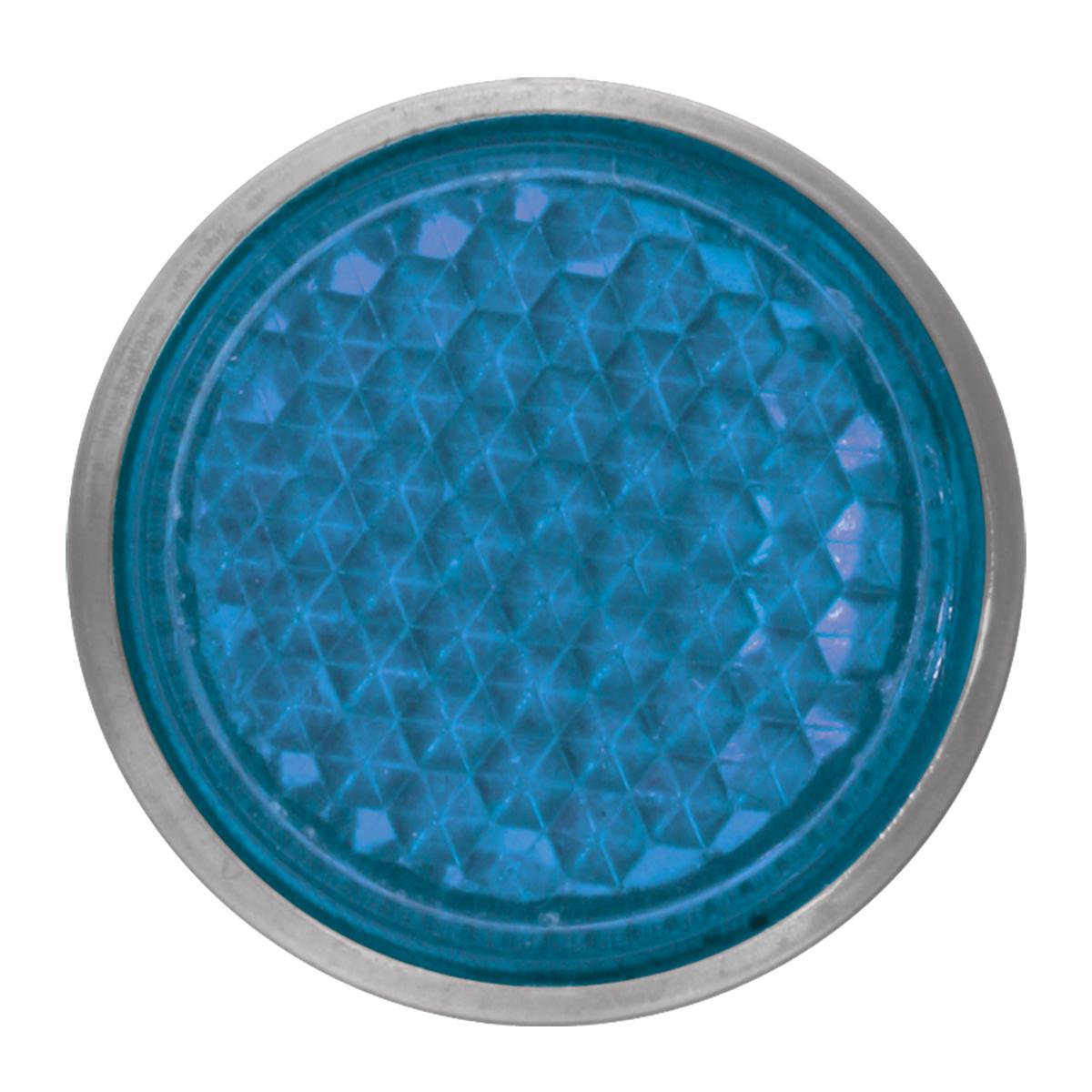 "Blue 5/8"" Round Screw Type Mini Reflector"