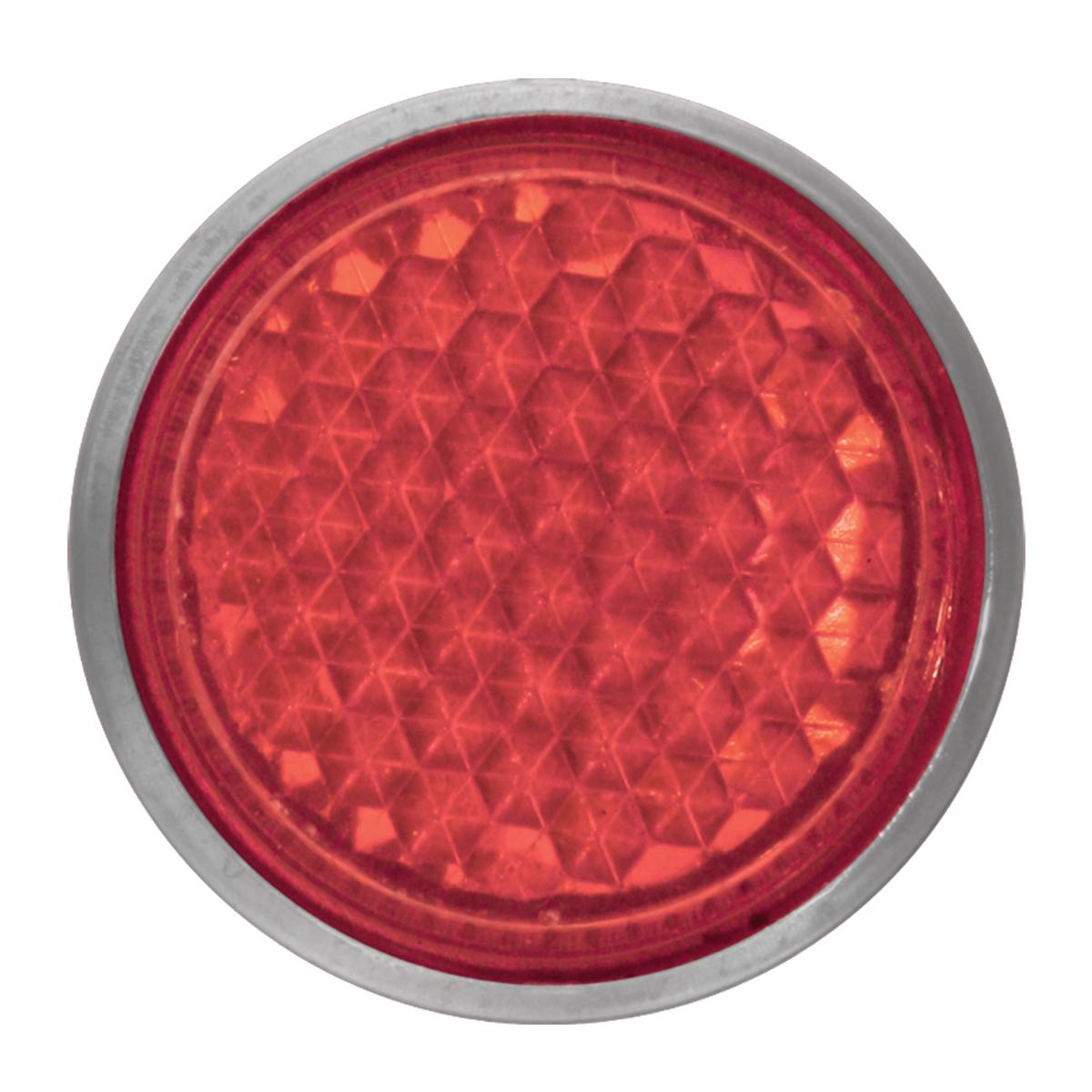 "Red 5/8"" Round Screw Type Mini Reflector"