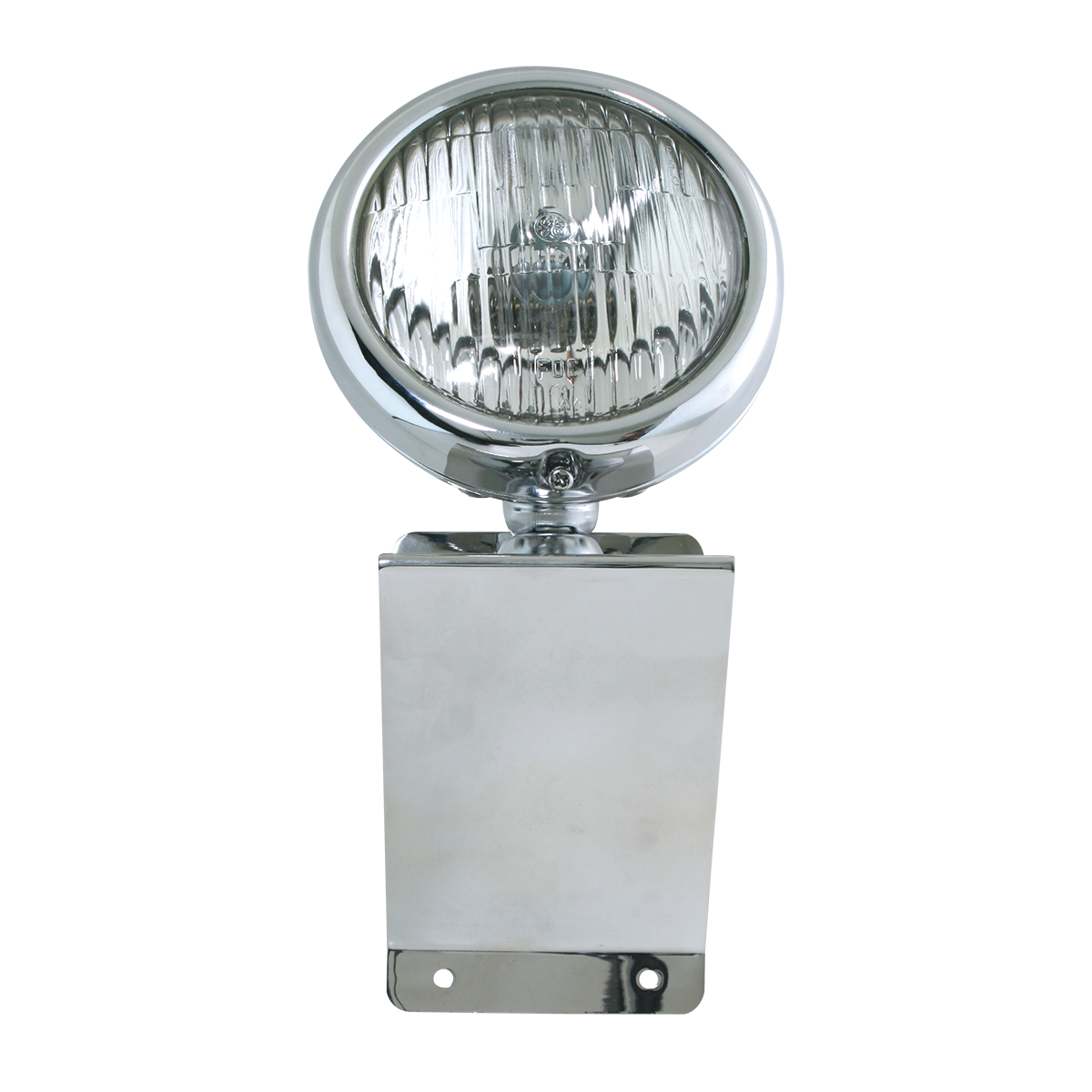 "#81755 Stainless Steel Small ""Z"" Shaped Light Bracket with 5"" Clear Sealed Beam Light"
