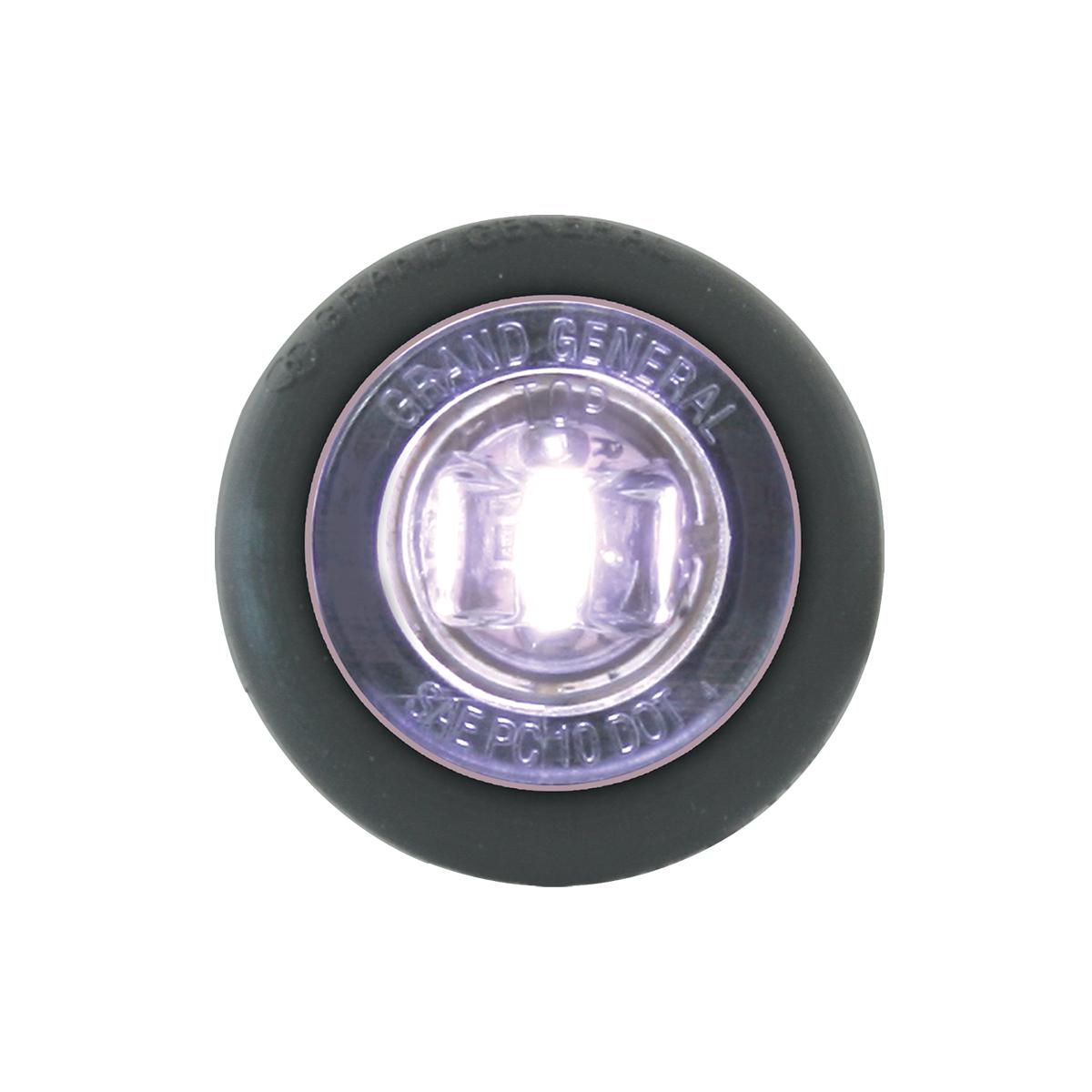 """87294 White 1"""" Dia. Mini Push/Screw-in Wide Angle LED Marker Light w/ Grommet"""