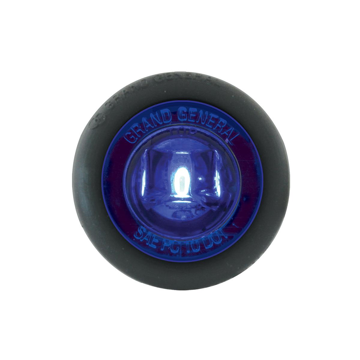 "87295 Blue 1"" Dia. Mini Push/Screw-in Wide Angle LED Marker Light w/ Grommet"