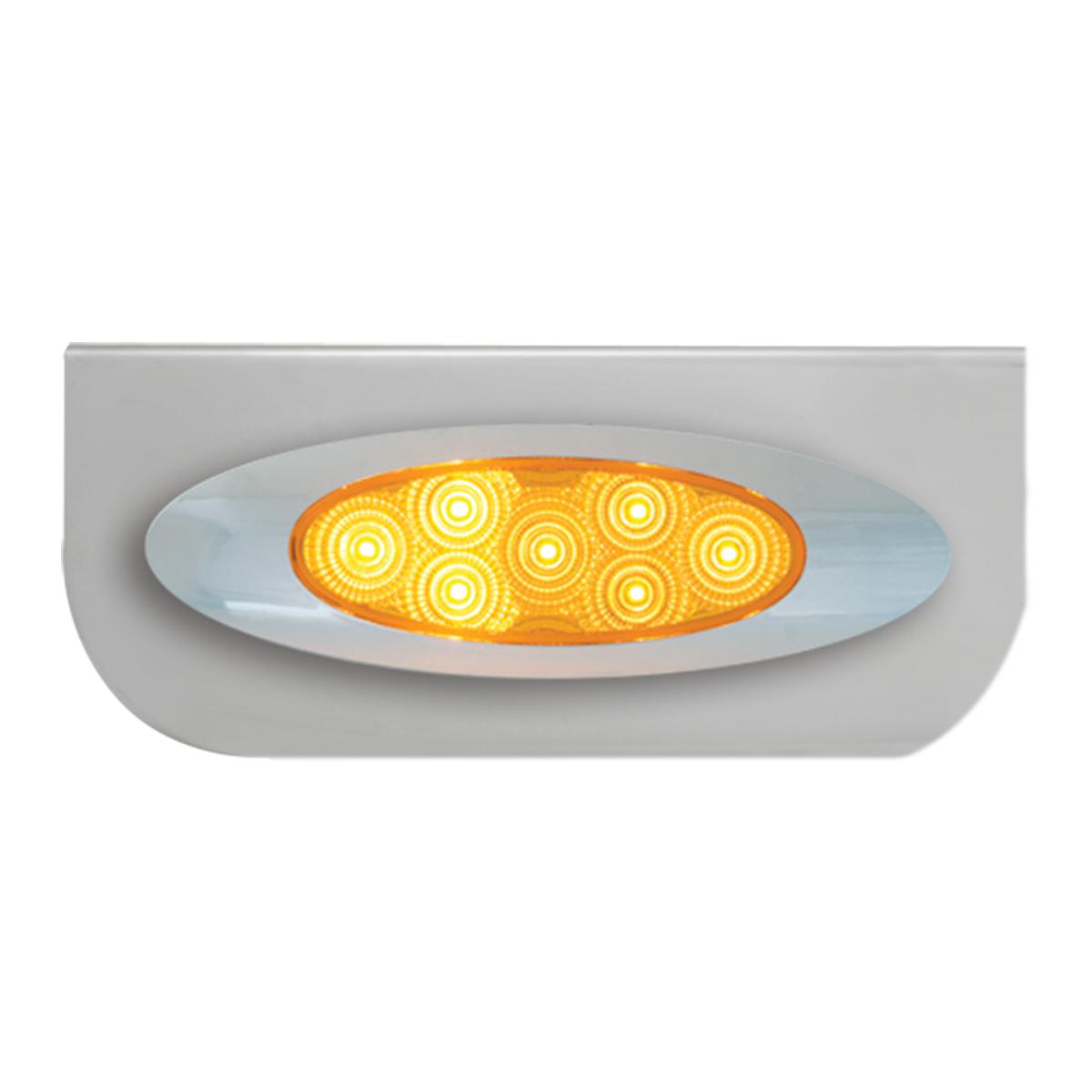 "#89026 Single Stainless Steel ""L"" Shape Light Bracket with Plug-In Y2K Spyder LED Lights"