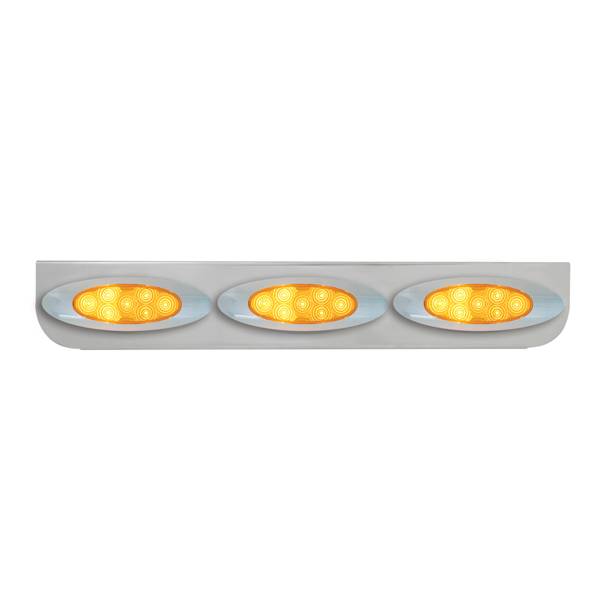 "#89056 Chrome Triple ""L"" Shape Light Bracket for Plug-In Y2K Spyder LED Marker Lights"