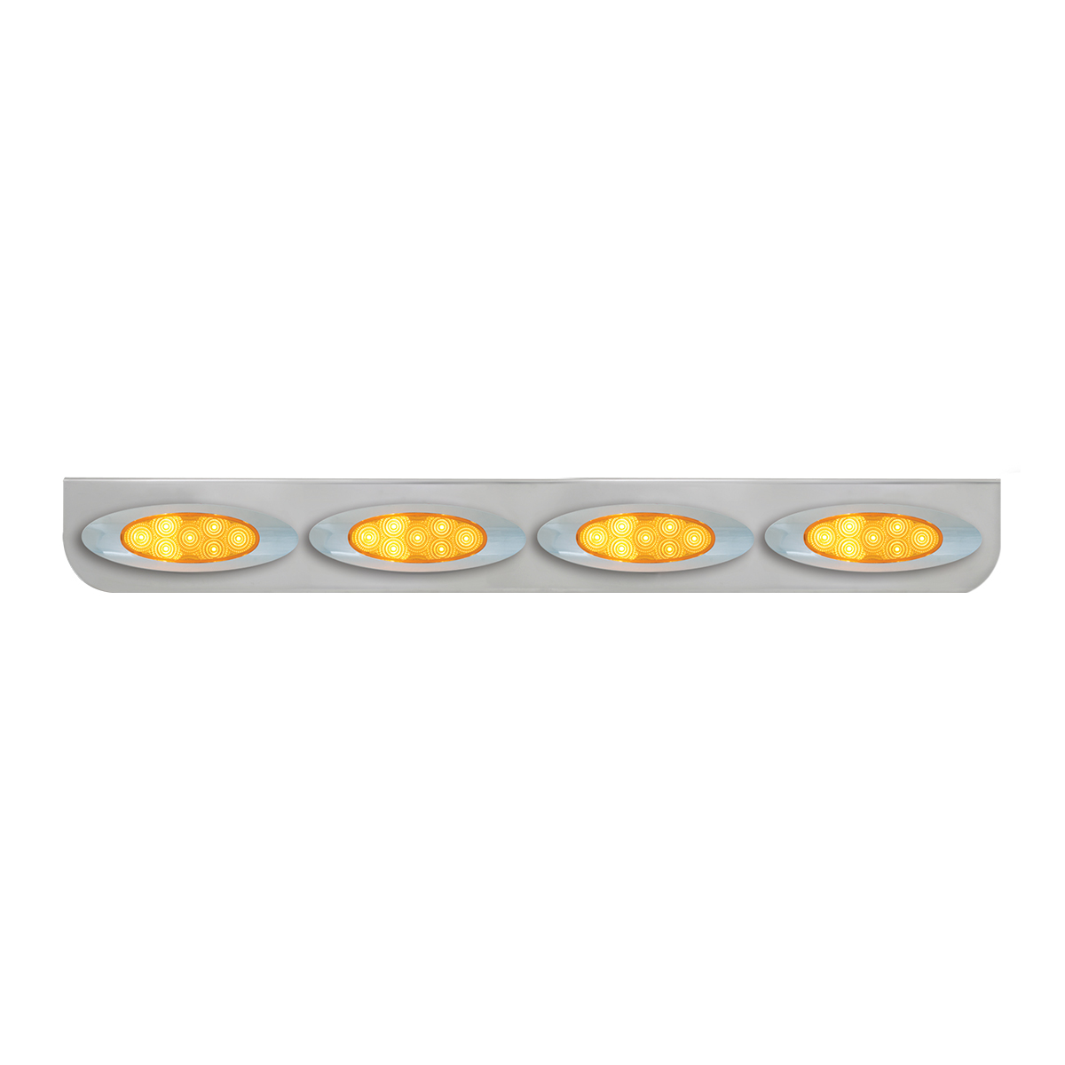 "#89076 Chrome Quadruple ""L"" Shape Light Bracket for Plug-In Y2K Spyder LED Marker Lights"