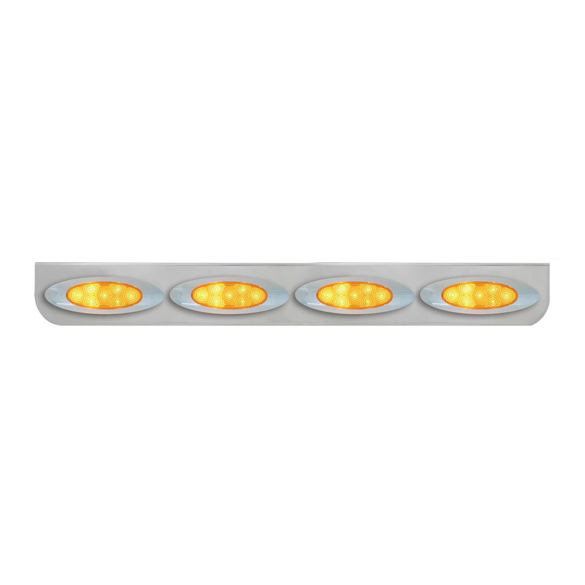"""#89076 Chrome Quadruple """"L"""" Shape Light Bracket for Plug-In Y2K Spyder LED Marker Lights"""
