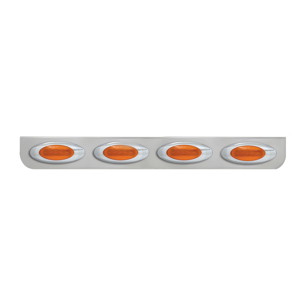 """#89080 Quadruple Stainless Steel """"L"""" Shape Light Bracket with Plug-In Y2K Incandescent Lights"""