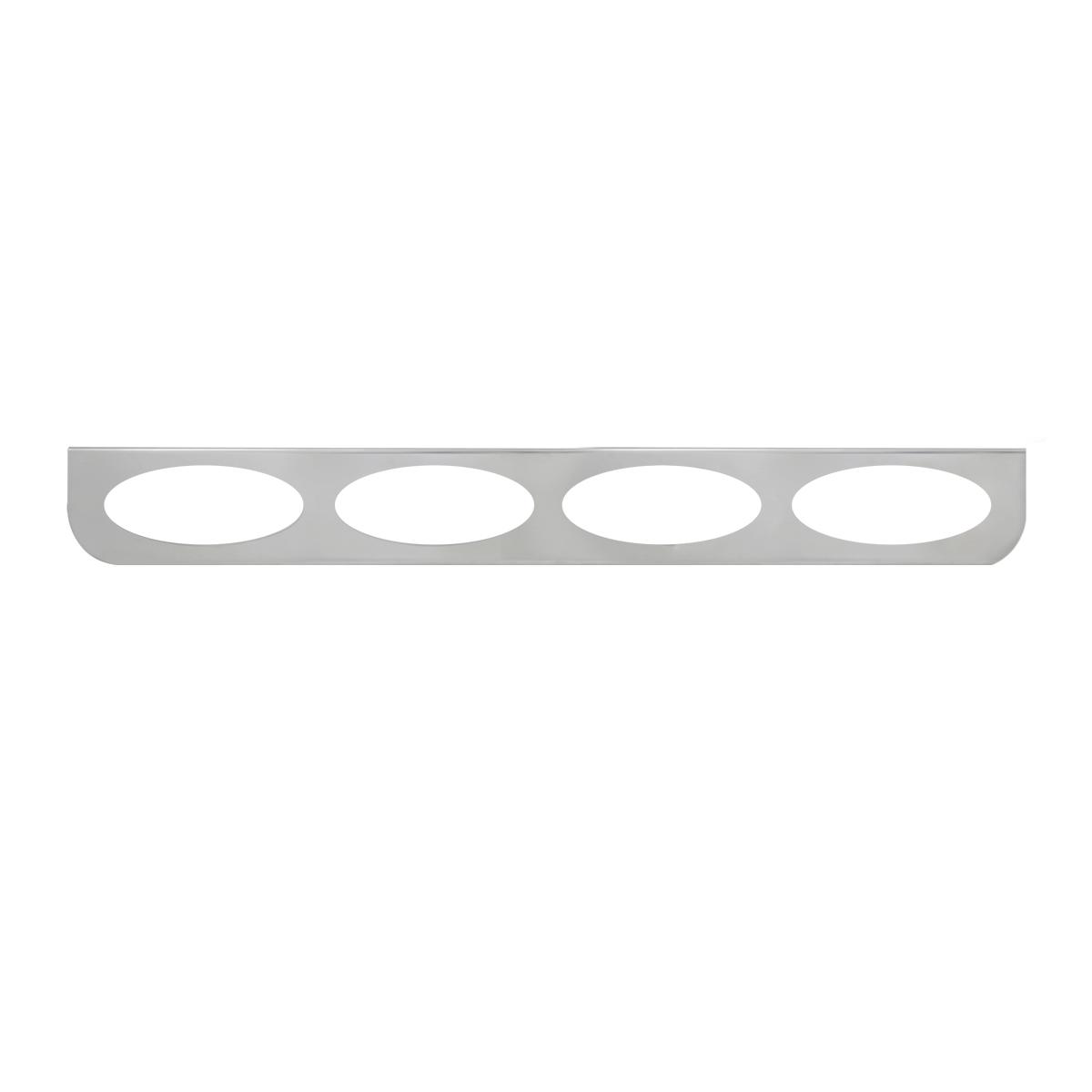 """#89089 Quadruple Stainless Steel """"L"""" Shape Light Bracket Only"""