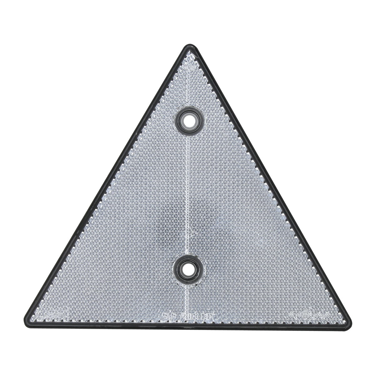 "99552 White 6"" Triangle Warning Reflector w/ 2 Mounting Holes"