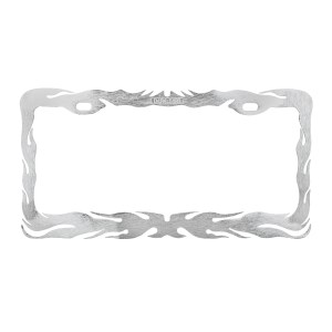 Flame License Plate Frame