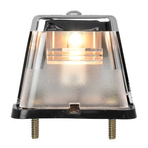 Stud Mount Square License Plate Light