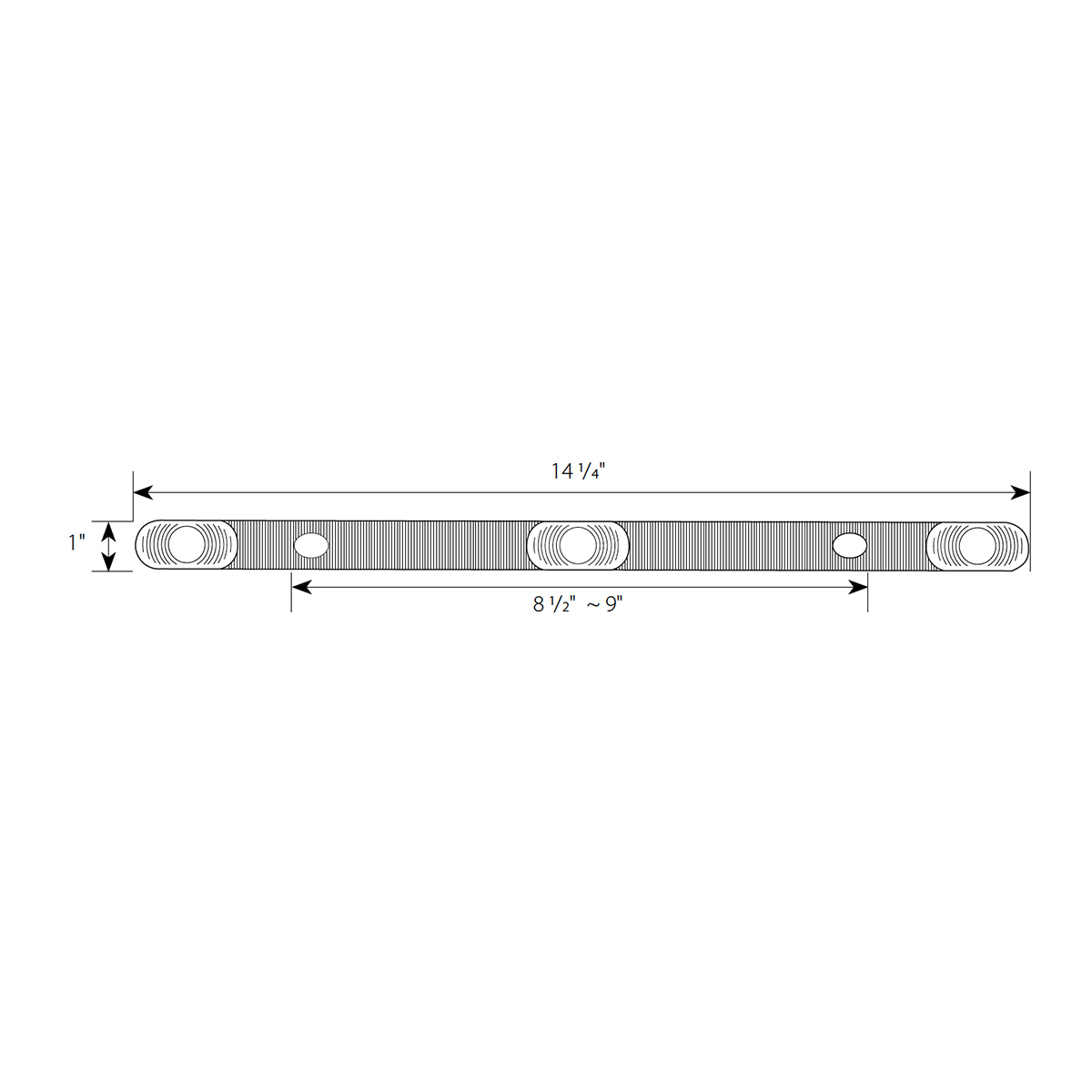 Submersible LED ID Bar Light - Diagram