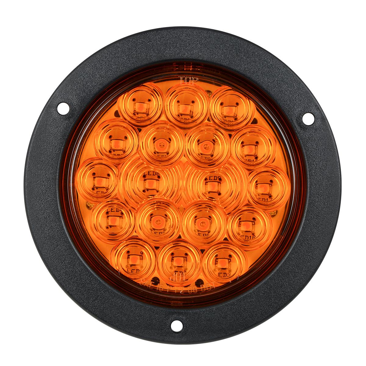 """75910 Amber/Amber 4"""" Fleet LED Light with Black Flange Mount"""