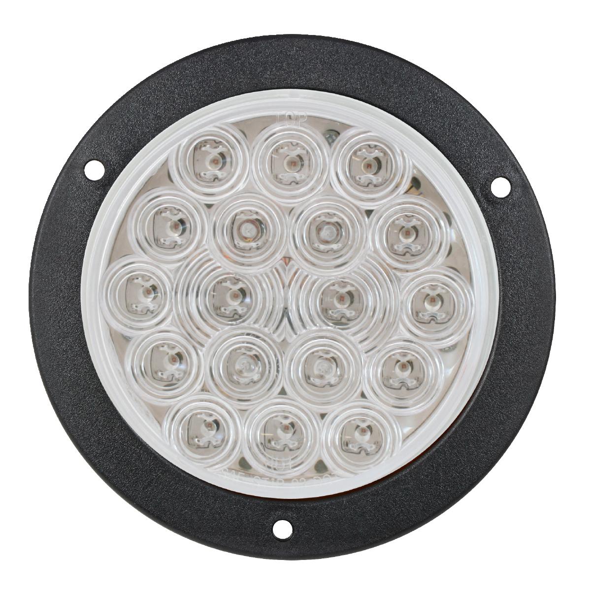 "4"" Fleet LED Light with Black Flange Mount in Clear Lens"