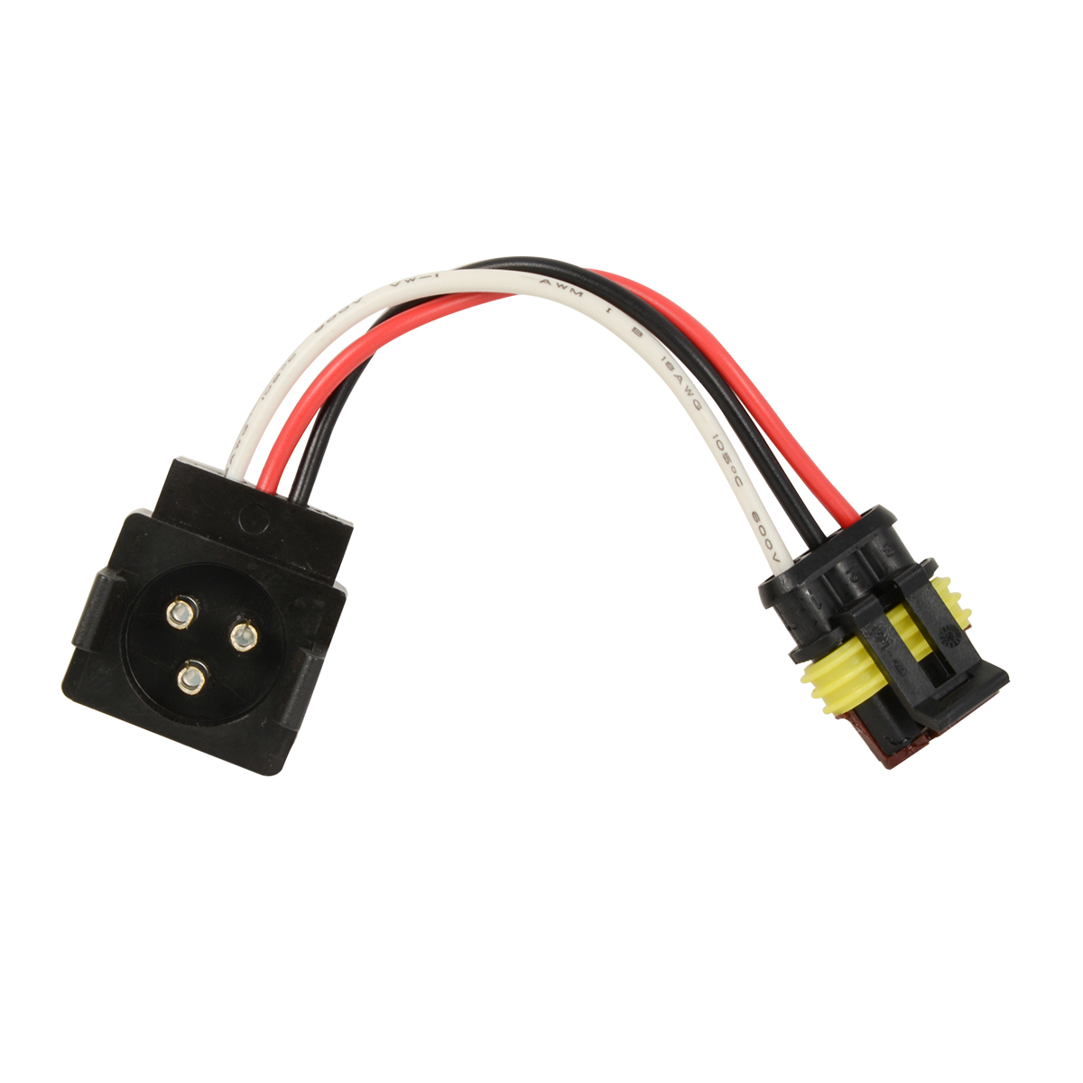 88095 3-Pin Light Adapter Plug from Round 3-Pin to Straight 3-Pin