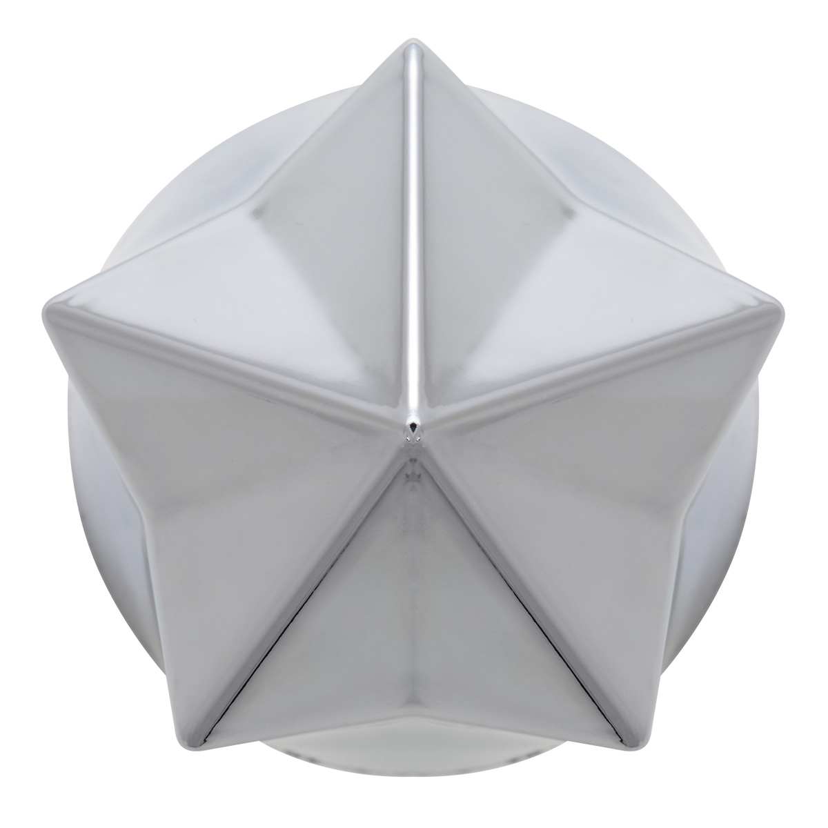 Pointed Star 33mm Lug Nut Cover - Top View