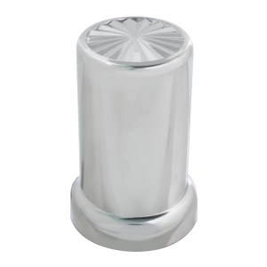 Pinwheel Chrome Plastic Lug Nut Cover