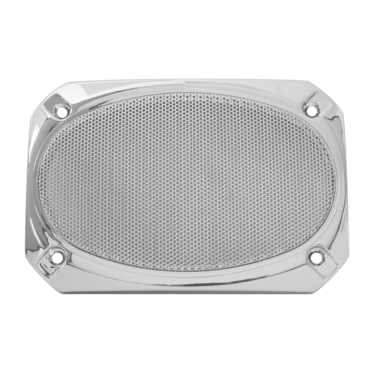 52025 Rectangular Speaker Cover w/ Chrome Screen for Peterbilt 379