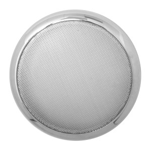 Round Speaker Cover w/ Chrome Screen for Peterbilt