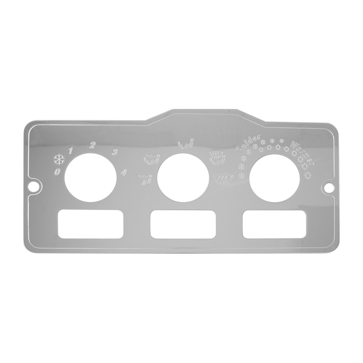 68322 AC Control Plate w/ 3 Switches for Peterbilt 370 Series 1995 & Later