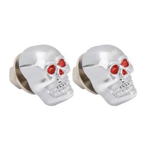Skull License Plate Fastener Set