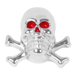 Skull with Cross Bones License Plate Fastener Set