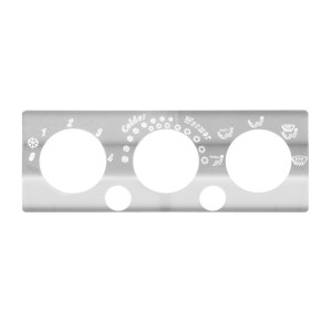 Stainless Steel A/C & Heater Control Panel for International