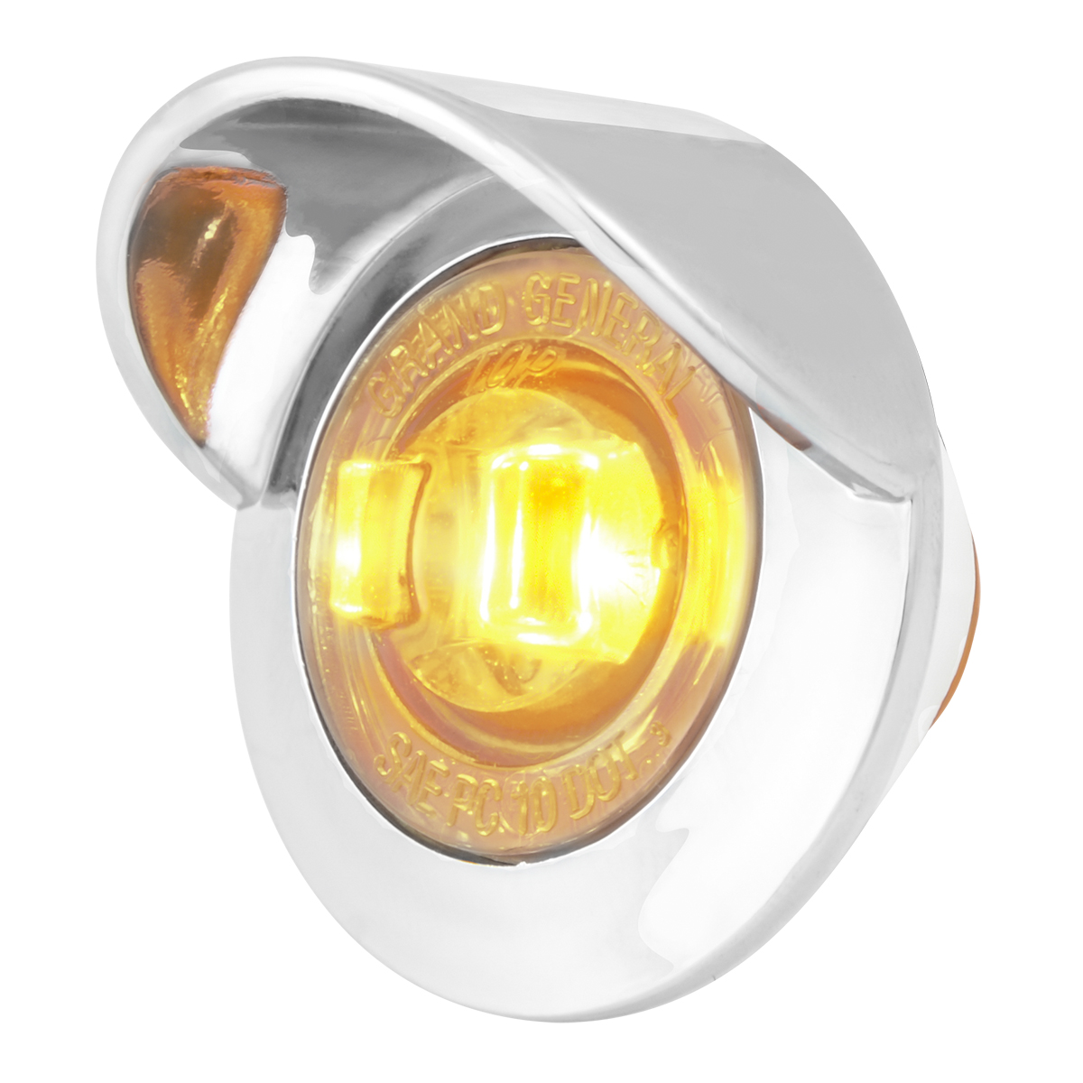 "75261 1"" Dual Function Mini Push/Screw-in Wide Angle LED Light w/ Chrome Bezel & Visor"