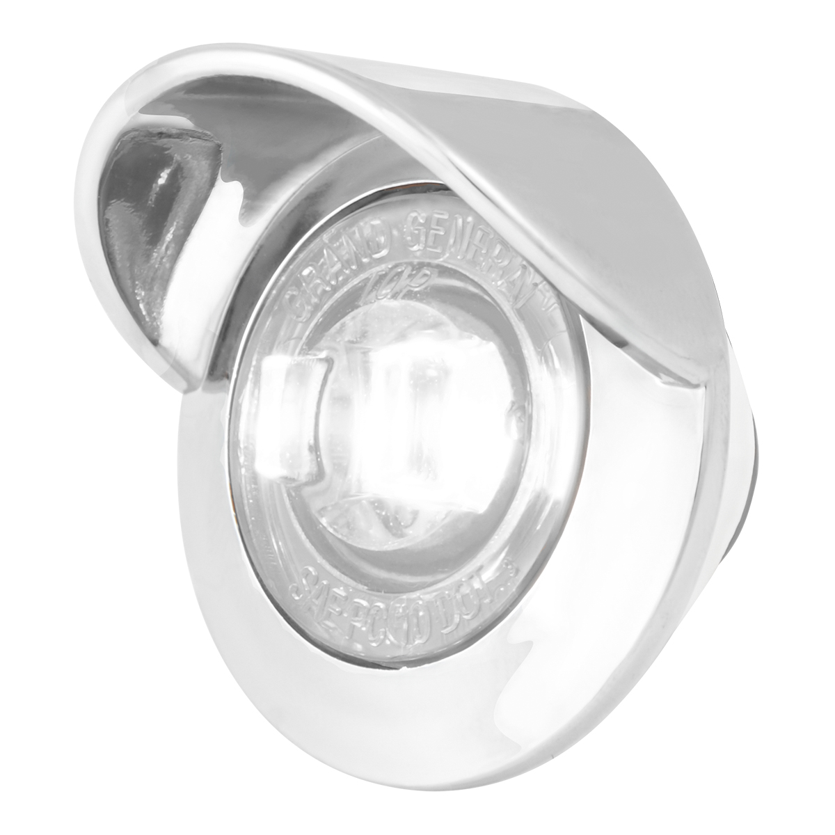 "75264 1"" Dual Function Mini Push/Screw-in Wide Angle LED Light w/ Chrome Bezel & Visor"