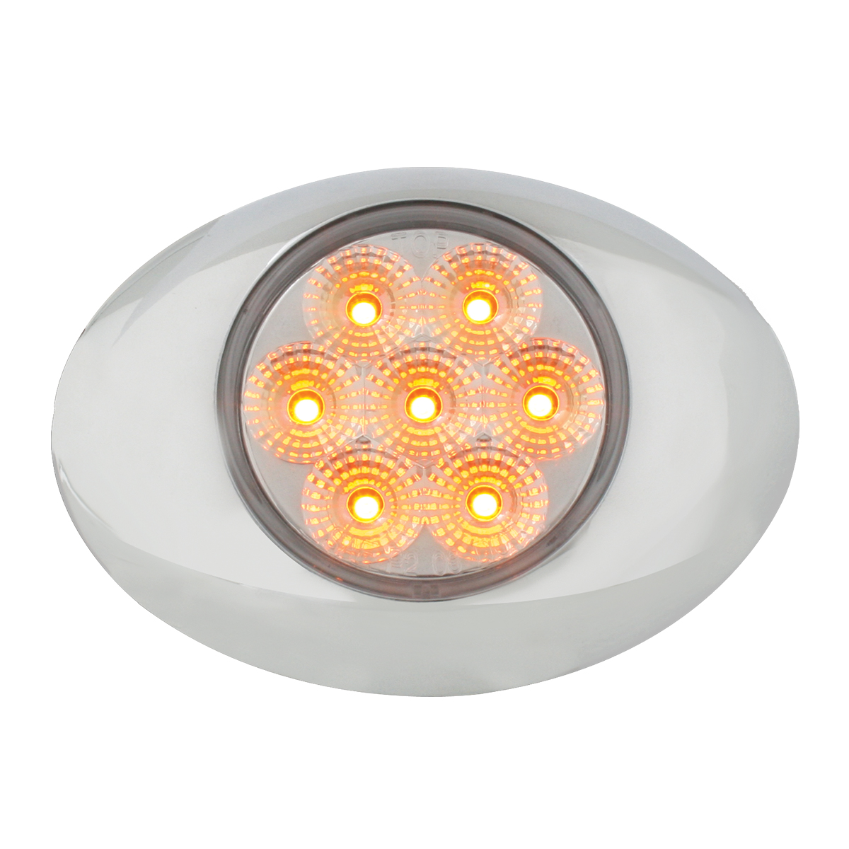 76196 Small Low Profile Surface Mount Spyder LED Marker & Turn Light w/ Chrome Bezel