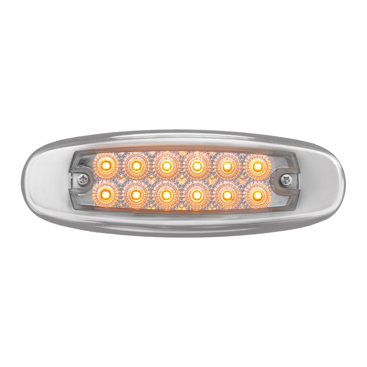 76441 Ultra Thin Dual Function Spyder LED Light w/ Stainless Steel Bezel