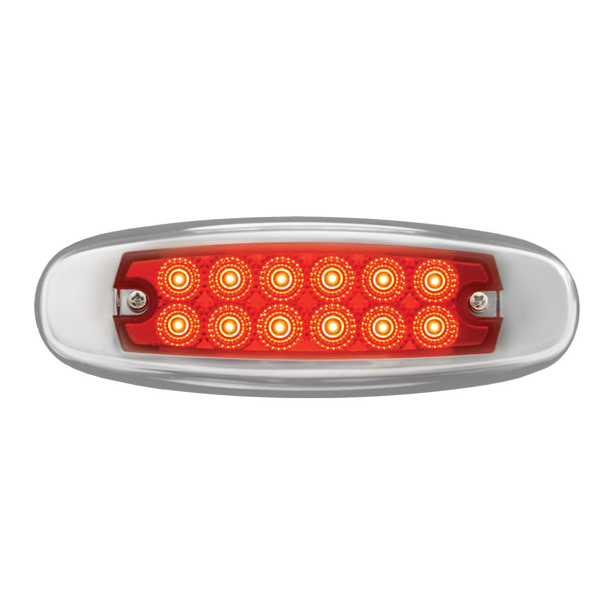 76442 Ultra Thin Dual Function Spyder LED Light w/ Stainless Steel Bezel