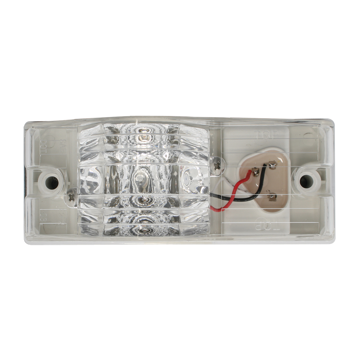 Rectangular Side Mount Spyder LED Turn/Marker Light In Clear Lens