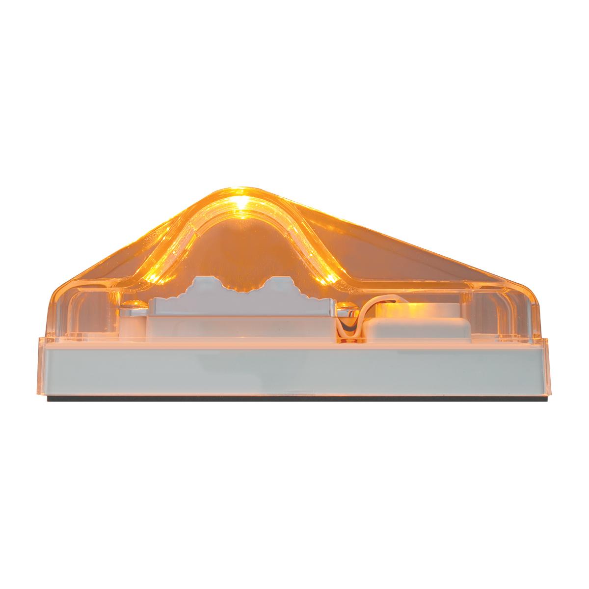 Rectangular Side Mount Spyder LED Turn/Marker Light In Clear Lens