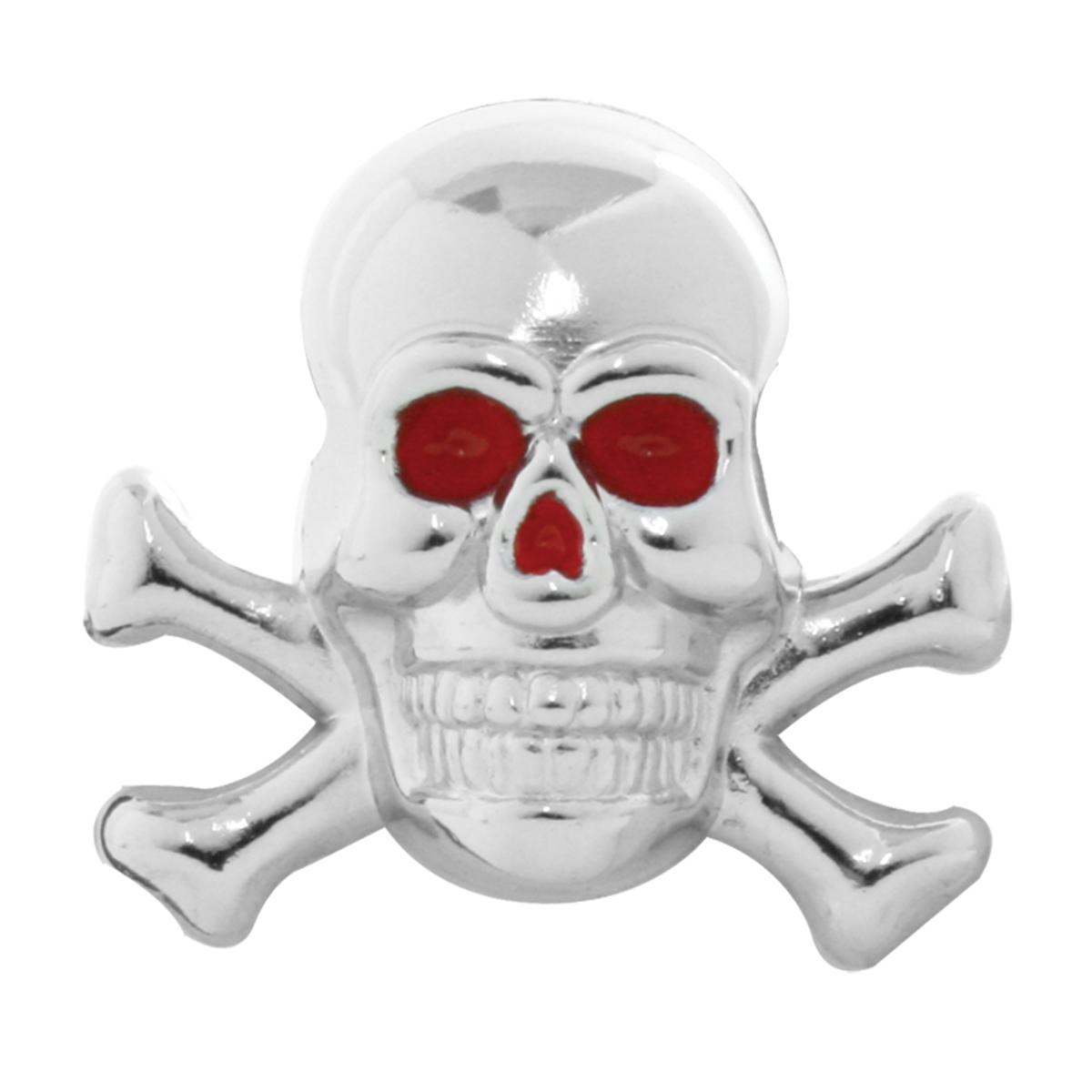 93751 Red Eye Skull with Cross Bones Dash Knobs