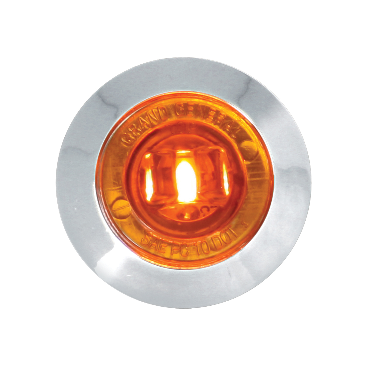 "75220 1-1/4"" Dia. Dual Function LED Light with Chrome Plastic Bezel and Nut"