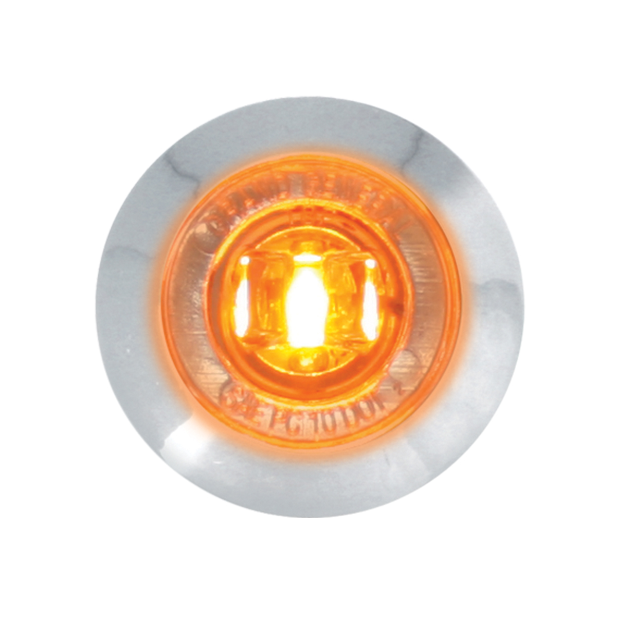"75221 1-1/4"" Dia. Dual Function LED Light with Chrome Plastic Bezel and Nut"