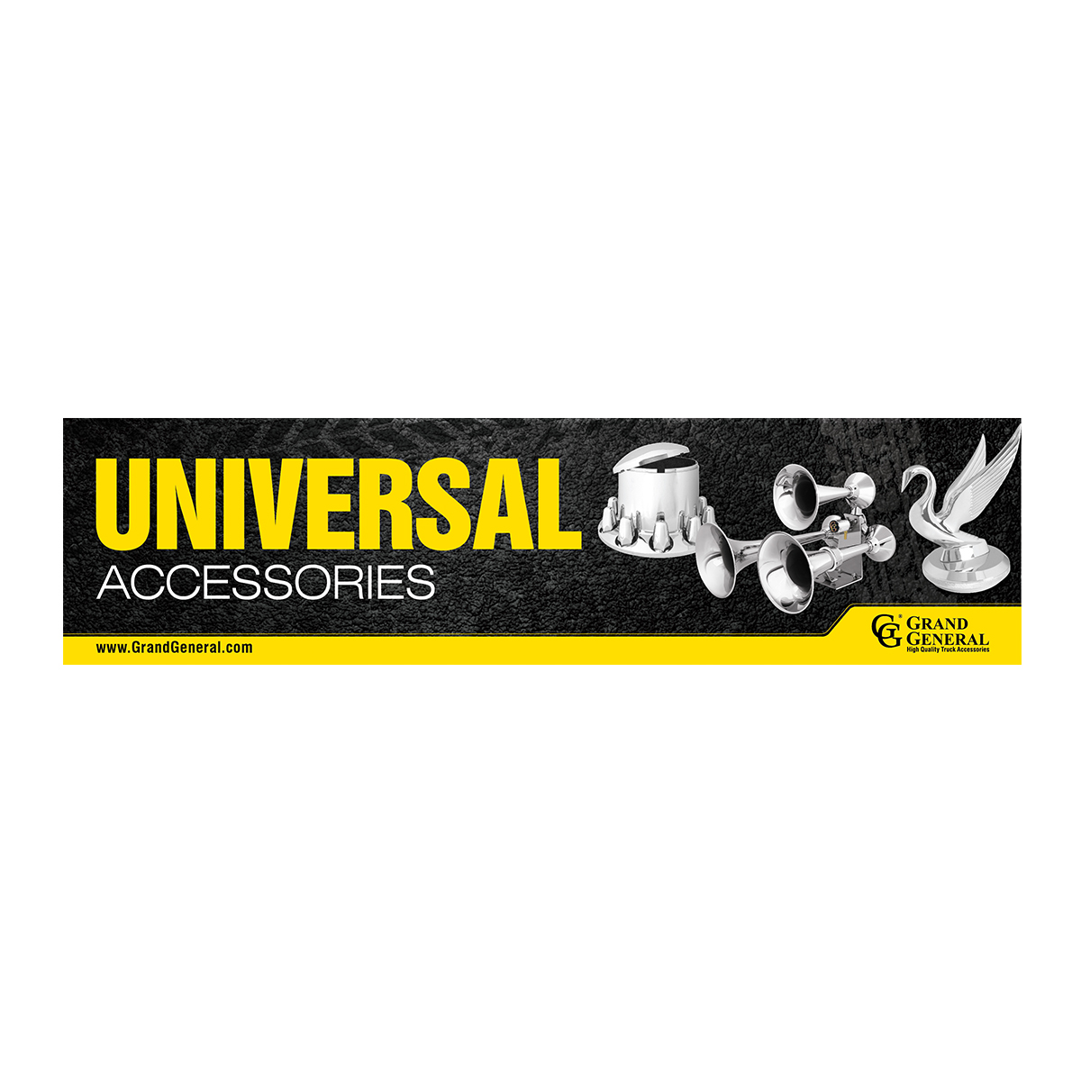 Universal Accessories Display Sign 4'(W) x 1'(H)
