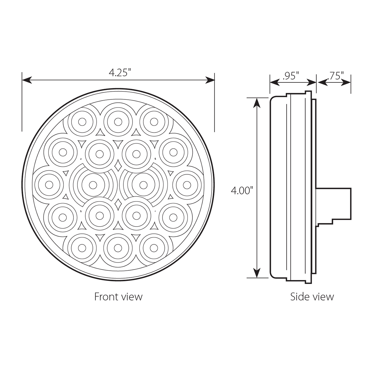 "24V 4"" Round Fleet LED Light"