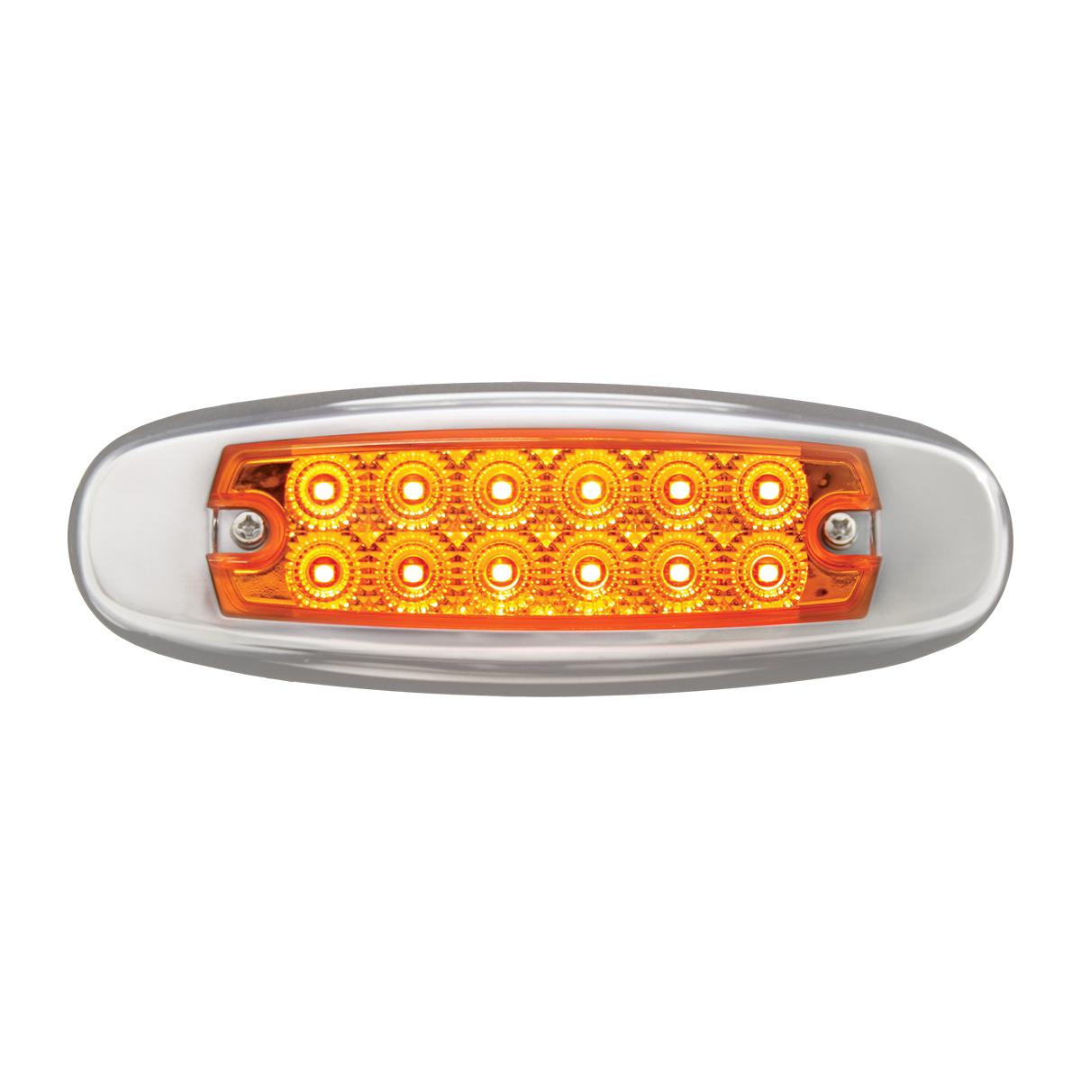 75130 24V Ultra Thin Spyder LED Marker Light w/ Stainless Steel Bezel